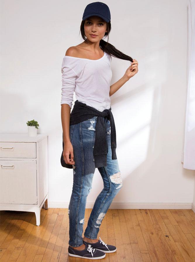 diy alte jeans bekommen einen neuen style jeans meile. Black Bedroom Furniture Sets. Home Design Ideas