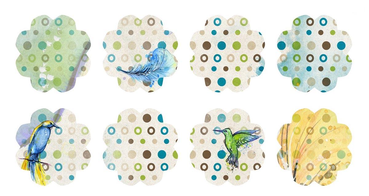 Vogelprint Vögel Prints