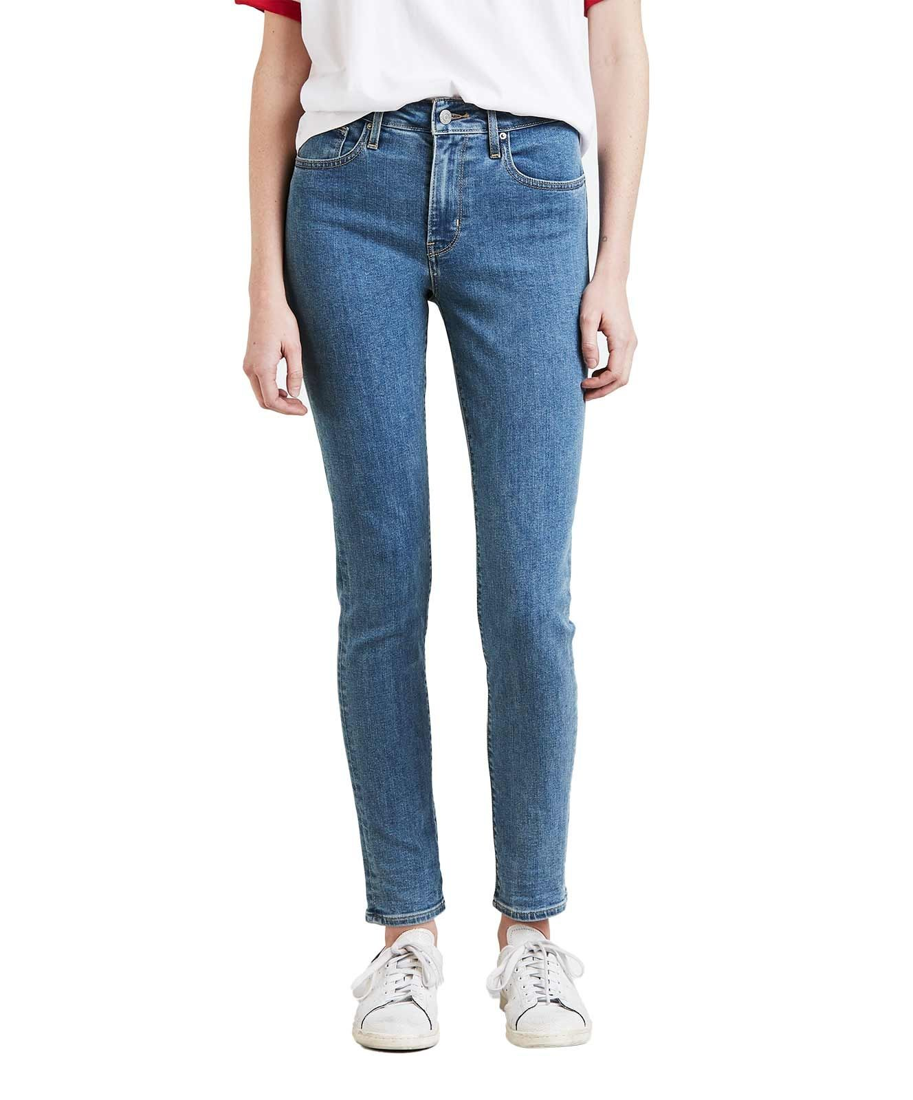 Levis 721 High Rise Skinny Jeans in Stonewash