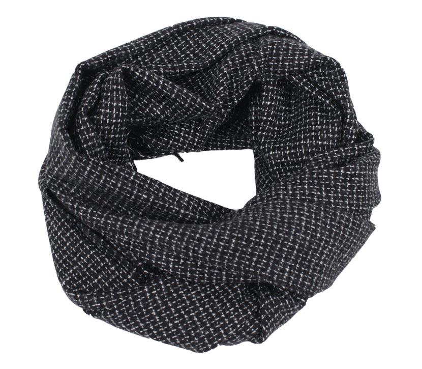 vero-moda-schal-grid-black