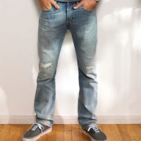 Herrentrend: Destroyed & patched Jeans