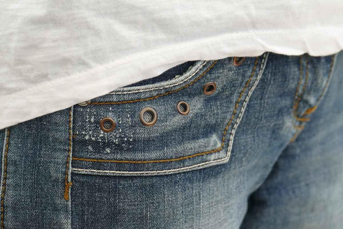 Jeanshose Jeans Nieten