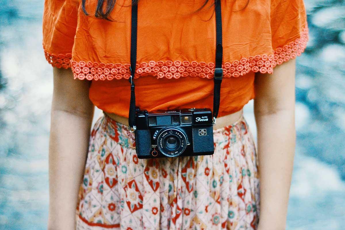 Orange Kamera Musterrock