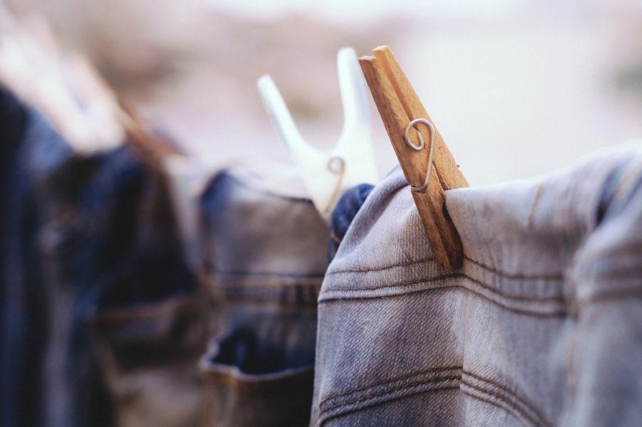 ausgebleichte Jeans Bleached