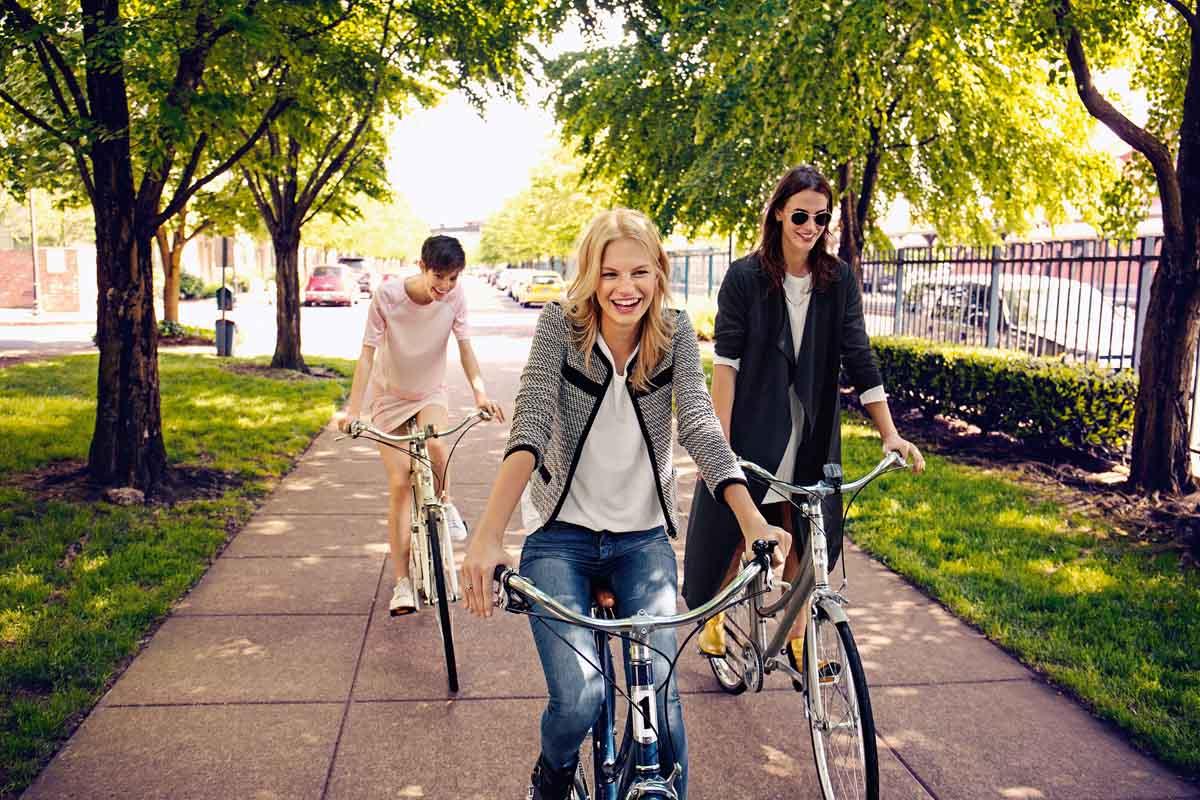 Fahrrad Streetstyle Jeanshose