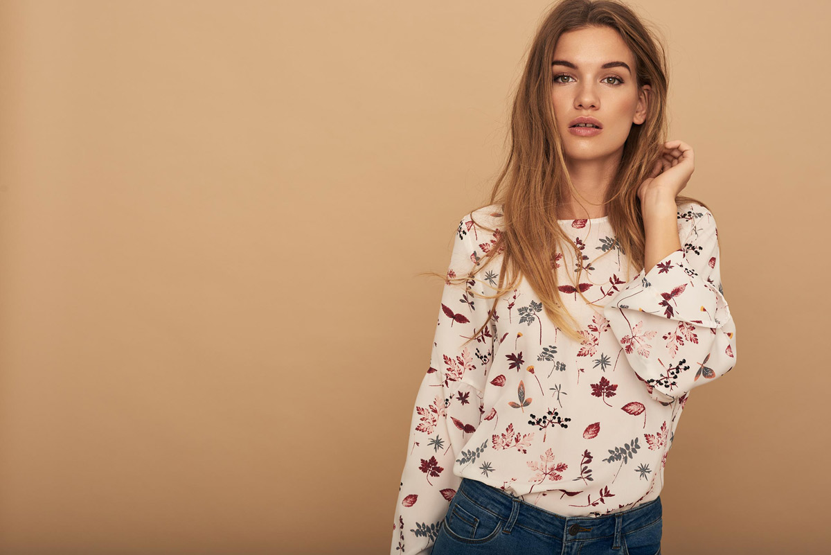 Muster Bluse Modetrends