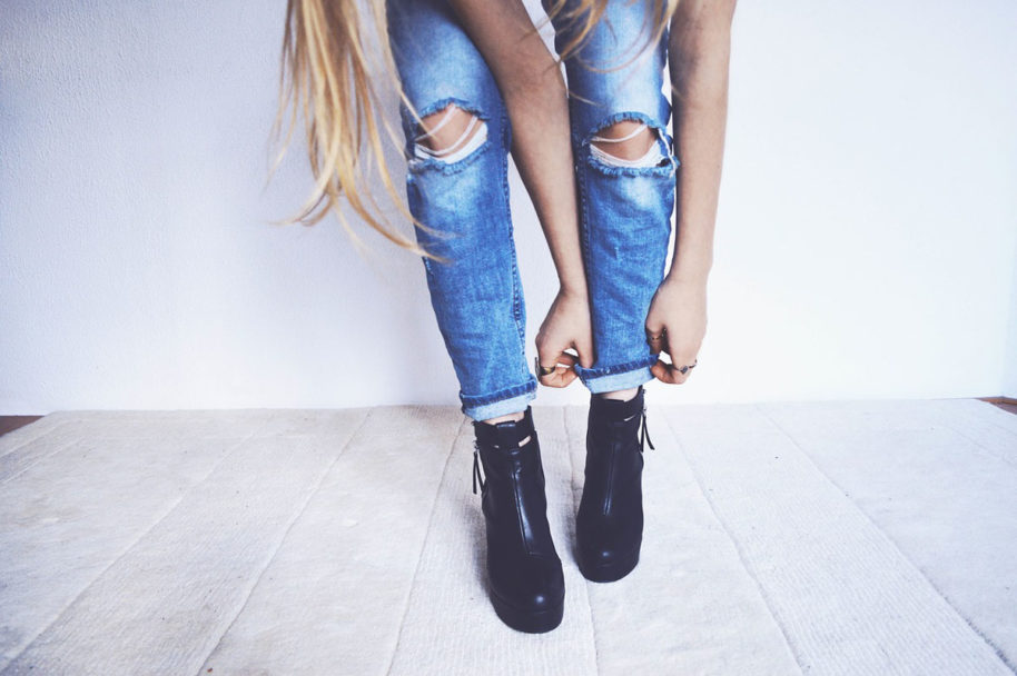 Boots Usedlook Jeans