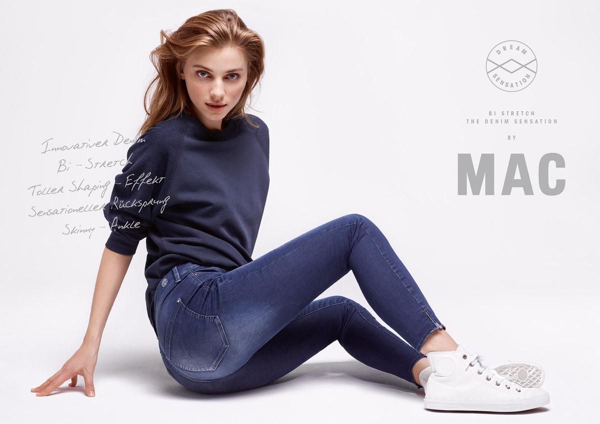 Mac Röhrenjeans Sneaker