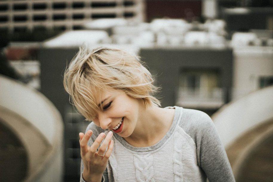 Strickpullover Blondine Pullover