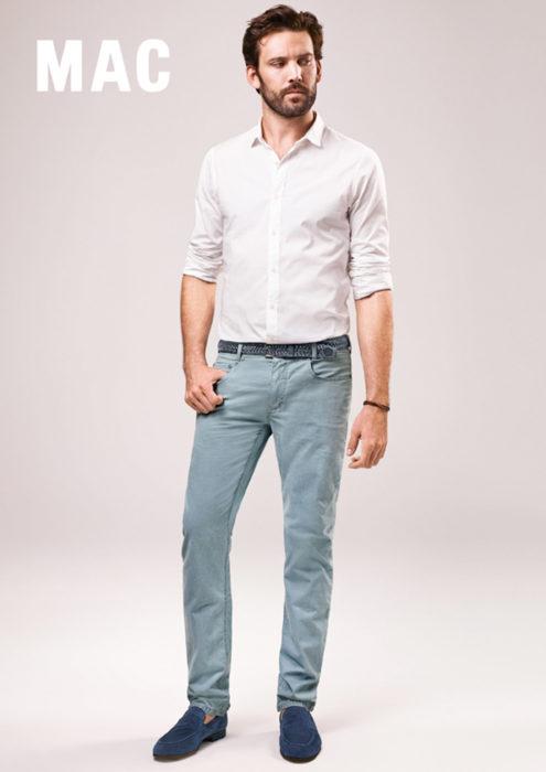 herrenjeans hemd mann mac