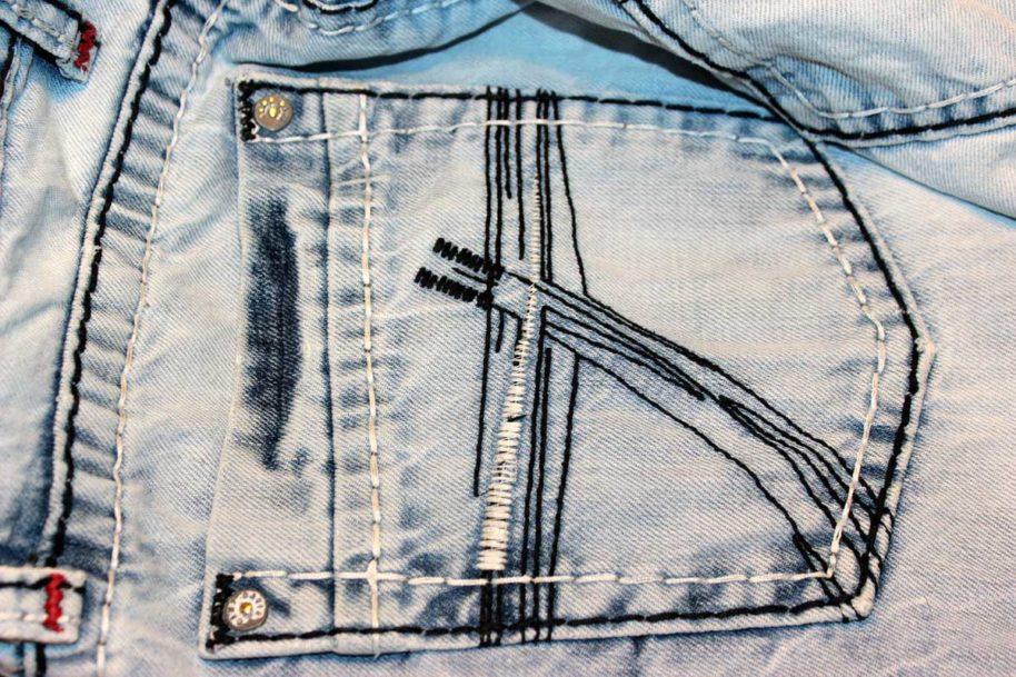 hosentasche jeanshose denim nieten