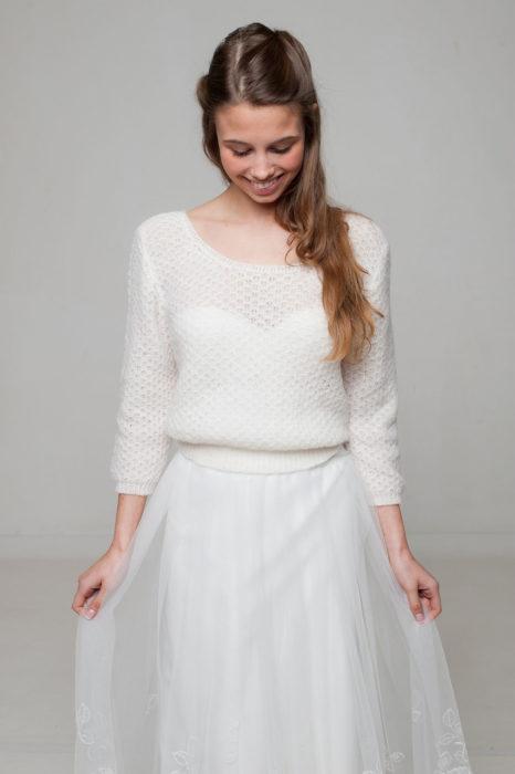 brautkleid pullover strickpullover weiß