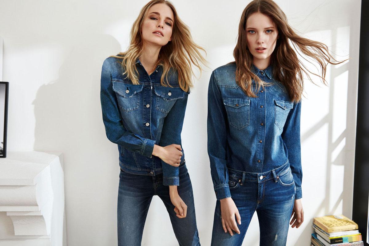 die neuesten denim trends modisch umgesetzt jeans. Black Bedroom Furniture Sets. Home Design Ideas