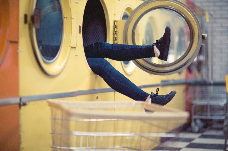 Waschmaschine Beine Jeanshose