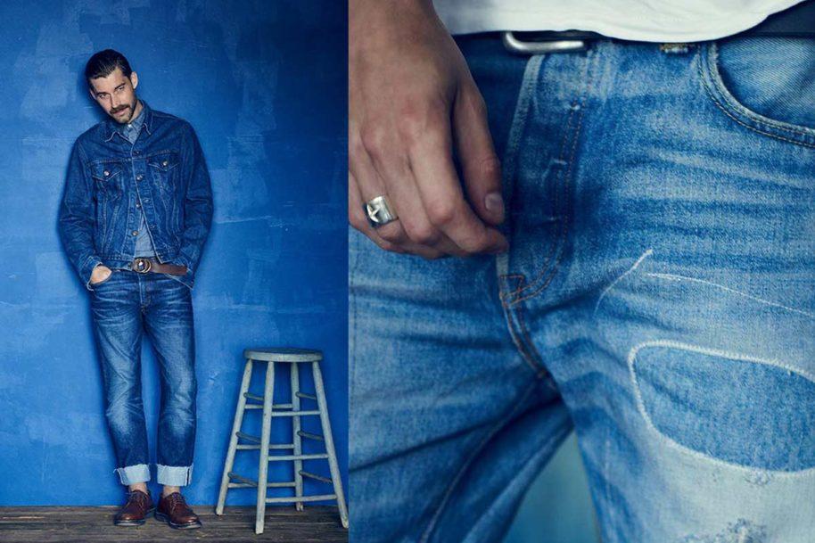 Levis 501 Jeans mit legerem Sitz in blau